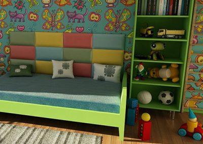 Hilfe beim Dekorieren eines Kinderzimmers